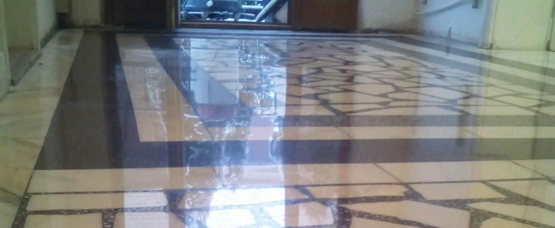 Reconditionare, slefuire si lustruire marmura travertin piatra mozaic terrazzo beton,  Sc Pluto Services Srl. Tel. 0787451715